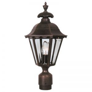 Carlingford Line Voltage Post Light Fixture