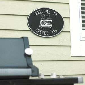 Custom Wall Mount Novelty Sign - BBQ