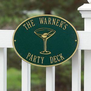 Custom Wall Mount Novelty Sign - Martini