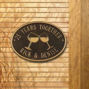 Custom Wall Mount Novelty Sign - Wine