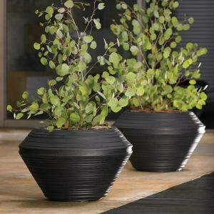 Danbury 17in. Round Planter - Choose from 3 Colors