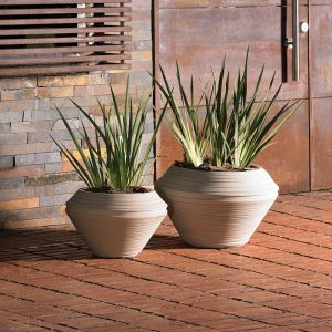 Danbury 29in. Round Planter - Choose from 3 Colors