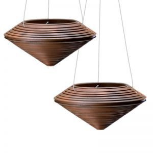 Danbury Rust Hanging Planters - Set of 2