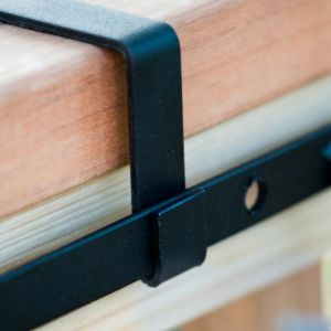 Deluxe Deck Rail Bracket - 2x6 Wood Railing - (Pair)
