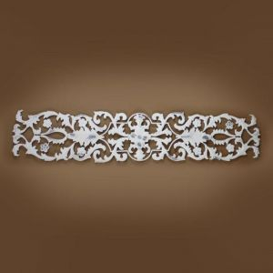 Distressed White Leaf Accent Wall Grille