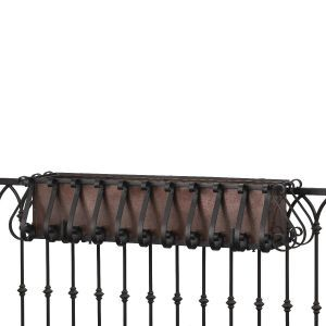 European Railing Planter- Choose 8 lengths and Rail Type
