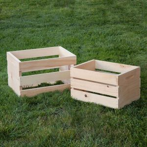 Farm Fresh Market Crate - Pine