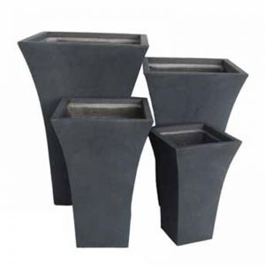 Flared Square Planters - 4 Sizes, 3 Finishes