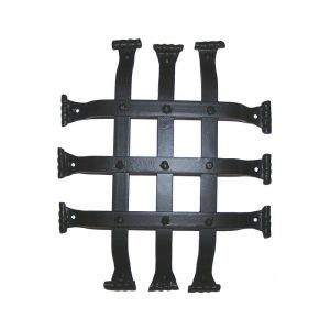 "10""L x 12""H Flat Bar Fish Tail Grille - Flat Black"