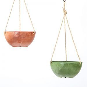 10in. Naples Hanging Bowl Planter - 2 Colors