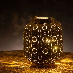 Lorien Decorative Lantern with Antique Gold Finish