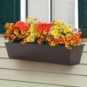 Galvanized Window Boxes- Bronze Tone Metal