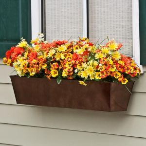 Galvanized Window Boxes- Oil Rubbed Bronze Finish