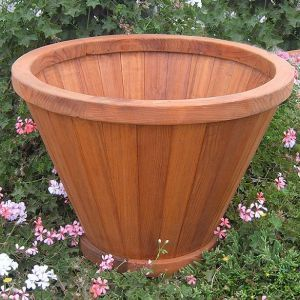 Half Moon Bay Redwood Vase Planters