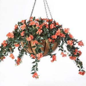Impatiens in 22in Hanging Basket, Outdoor Rated