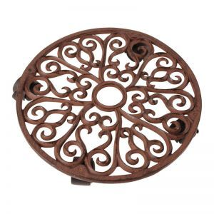 Large Amelia Round Rolling Plant Stand