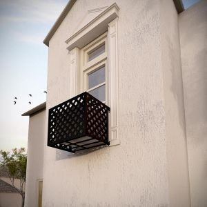 Lattice Iron Air Conditioning Cover / Window Guard