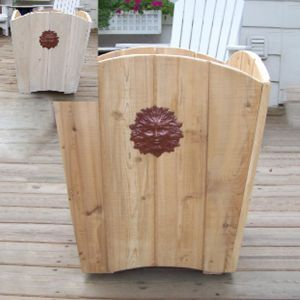 Fiera Cedar Planter 21in
