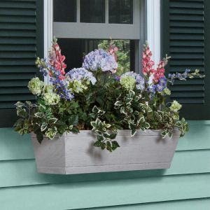 Modern Farmhouse Window Boxes - Distressed Driftwood