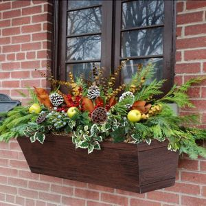 Modern Farmhouse Window Boxes - Reclaimed Cherry
