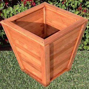 Morro Bay Tapered Redwood Planter