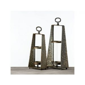 Set of 2 Rectangular Hanging Lanterns