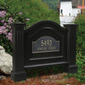 Northwood Double Post and Panel Address Sign - Black