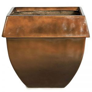 18 inch Tall O'Banion Glossy Fiberglass Tapered Square Planter -Choose from 2 Colors