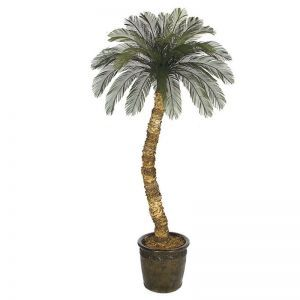 10' Artificial Cycas Palm 36 Fronds, Outdoor Rated