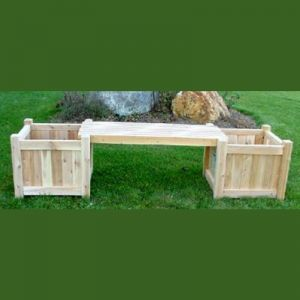 Planter and Bench Combination w/ Two 24in. Cube Planters