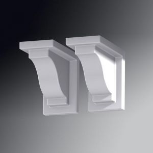 Provincial Decorative Brackets - White (2pk)