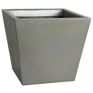 Remus Fiberglass Tapered Square Planter - Matte Charcoal -Choose from 2 sizes