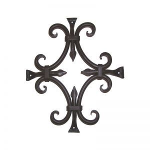 "12""L x 14""H Round Bar Fancy Grille - Flat Black"