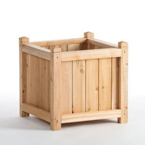 18in. Square Slatted Cedar Planter