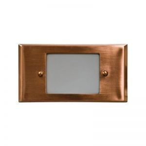 Small Open Face Style Recessed LED Step Lights - Multiple Color Options