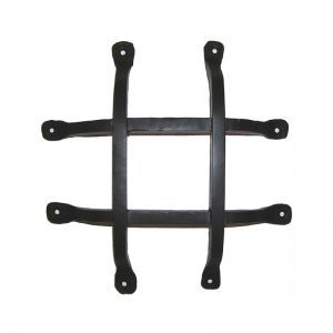 "10""L x 12""H Square Bar Flat Tail Grille - Flat Black"