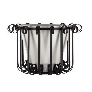 Tapered European Iron Planter w/Fiberglass Liner