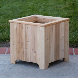 The Buckleberry 16in. Square Cedar Planter