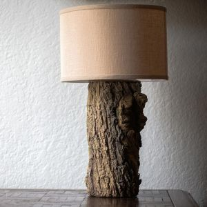Tree Trunk Ceramic Table Lamp