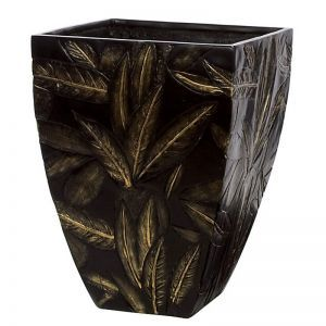 21 inch Tall Tropical Fiberglass Square Tapered Planter