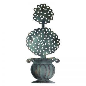 Verdigris Double Ball Topiary in Urn