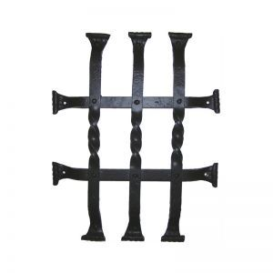 "12""L x 15""H Vertical Bar Twist Grille - Flat Black"