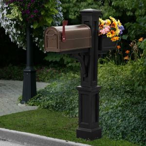 Palisades  Mail Post with Planter