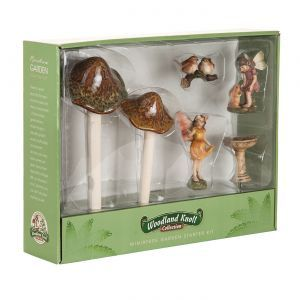 Whimsical Forest Fairy Garden Kit w/ Toadstools