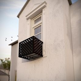 Wrought Iron Air Conditioner Cages By Hooks Lattice