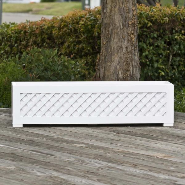 Composite Lattice Planter For Deck Porch Or Patio