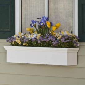"""48"""" Newport Premier Window Box w/ *Easy Up* Cleat Mounting System"""