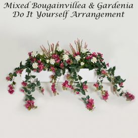 DIY Artificial Bougainvillea & Gardenia for Window Boxes - Lavender/Fuchsia