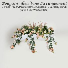 DIY Artificial Bougainvillea & Gardenia for Window Boxes - Peach/Pink/Cream