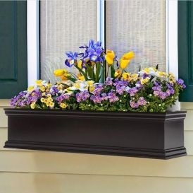 Laguna Self-Watering Fiberglass Window Box Planters